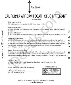 California Affidavit Death of Joint Tenant Forms | Deeds.com