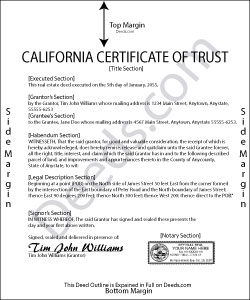 California Certificate of Trust Form