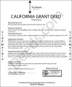 California Grant Deed Form