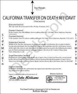 California Transfer on Death Affidavit Form