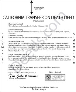 California Transfer on Death Deed Form
