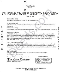 California Transfer on Death Revocation Form