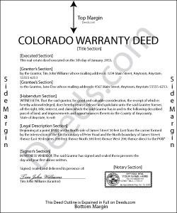 Colorado Warranty Deed Form