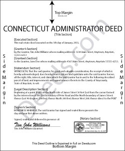 Connecticut Administrator Deed Form
