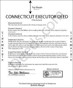 Connecticut Executor Deed Form
