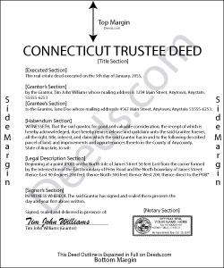 Connecticut Trustee Deed Form