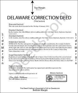 Delaware Correction Deed Form
