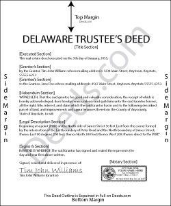 Delaware Trustee Deed Form