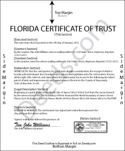 Florida Certificate of Trust Form