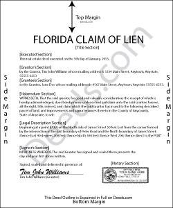 Florida Claim of Lien Form