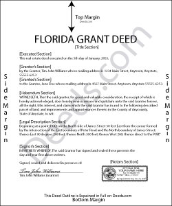 Florida Grant Deed Form