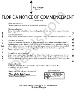 Florida Notice of Commencement Form