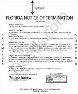 Florida Notice of Termination Form