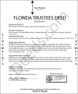 Florida Trustees Deed Form