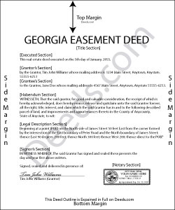 Georgia Easement Deed Forms | Deeds.com