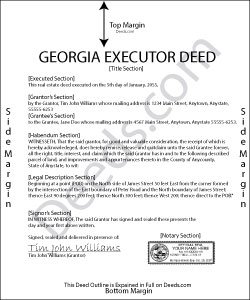 Georgia Executor Deed Form