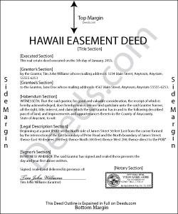 Hawaii Easement Deed Form