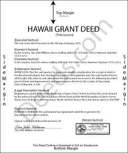 Hawaii Grant Deed Form