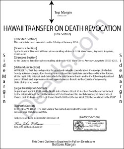 Hawaii Transfer on Death Revocation Form