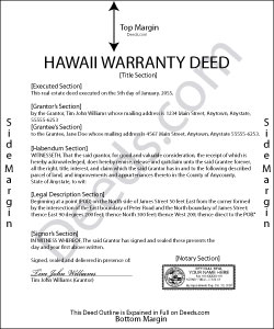 Hawaii Warranty Deed Form