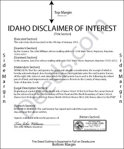 Idaho Disclaimer of Interest Form