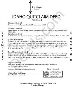 Idaho Quit Claim Deed Form