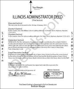 Illinois Administrator Deed Form