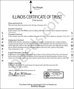 Illinois Certificate of Trust Form