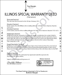 Illinois Special Warranty Deed Form