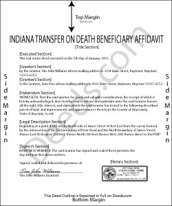 Indiana Transfer on Death Deed Beneficiary Affidavit Form