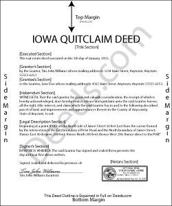 Iowa Quit Claim Deed Form