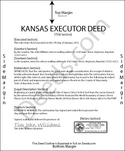 Kansas Executor Deed Form