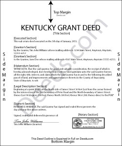 Kentucky Grant Deed Form