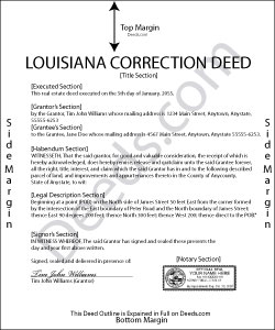 Louisiana Correction Deed Form