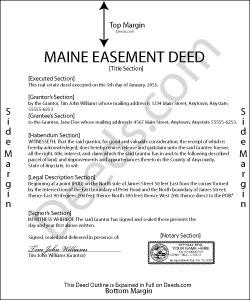 Maine Easement Deed Form