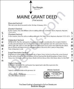 Maine Grant Deed Form