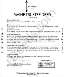 Maine Trustee Deed Form