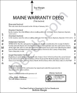 Maine Warranty Deed Form