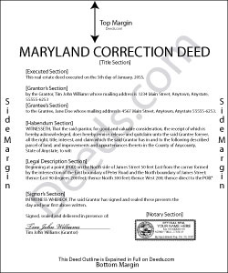 Maryland Correction Deed Form