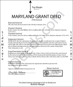 Maryland Grant Deed Form