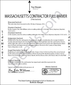 Massachusetts Contractor Full Conditional Lien Waiver Form