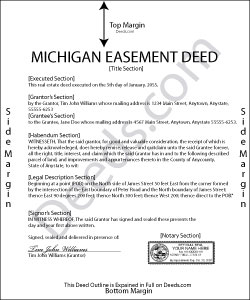 Michigan Easement Deed Form