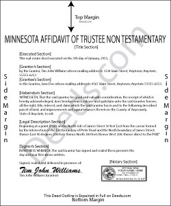 Minnesota Affidavit of Trustee for Non-testamentary Trust Form