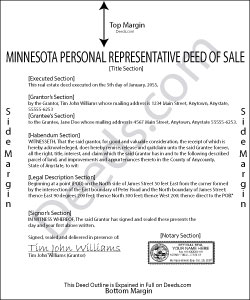 Minnesota Personal Representative Deed of Sale Form