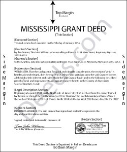 Mississippi Grant Deed Form