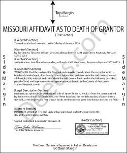 Missouri Affidavit as to Death of Grantor Form