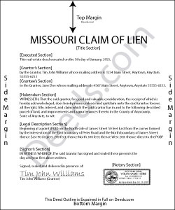 Missouri Claim of Lien Form