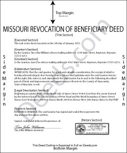 Missouri Revocation of Beneficiary Deed Form