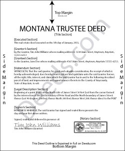Montana Trustee Deed Form