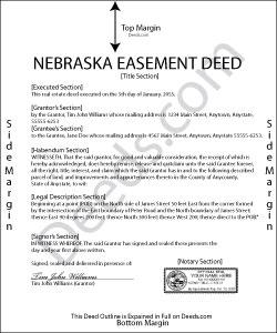 Nebraska Easement Deed Form